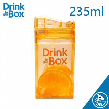 金寶貝 加拿大 Drink in the box 兒童 戶外 方形 吸管 水杯 235ml 橘色【37829】