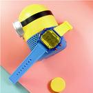 I AM / IAM-106 / 電子液晶 青春風格 繽紛色彩 自由搭配 矽膠手錶 黃x透明藍x紅 38mm