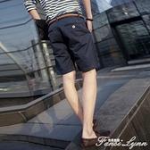 五分褲男夏季薄款潮流工裝七分褲子中褲寬鬆沙灘運動休閒5分短褲 范思蓮恩
