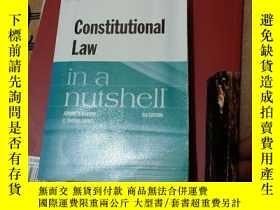 二手書博民逛書店Constitutional罕見Law in a nutshell 第九版Y369690 Jerome A
