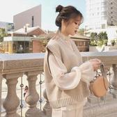 法式復古少女文藝學生襯衫女V領針織馬甲背心學院風兩件套裝秋季夏季新品