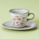 日本陶瓷【美濃燒】粉櫻和風 咖啡杯組