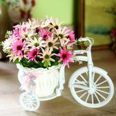 裝飾花玫瑰花套裝店鋪婚慶綠植室內新房塑料仿真假花絹花結婚花籃梗豆物語