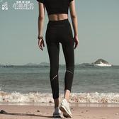 運動褲高腰速乾彈力健身運動夜跑跑步緊身九分褲女夏季瑜伽修身長褲外穿