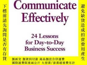 二手書博民逛書店Communicate罕見Effectively (the Mc