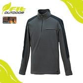 【FIT 維特 男 雙刷雙搖保暖衣《綠卡其》】GW1109/運動上衣/除菌抗臭/刷毛