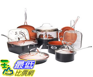[8美國直購] 不沾鍋 廚房套裝 Gotham Steel 1752 Ultimate 15 Piece All in One Chefs Kitchen Set Non-Stick Ti-Cerama