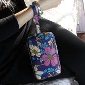 零錢包 女士長款布藝手拿包三層拉鏈大容量可放手機包買菜手袋 巴黎春天
