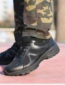 新式作訓鞋男黑色冬季超輕耐磨跑步訓練鞋女網眼透氣勞保消防膠鞋