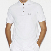 AX阿瑪尼短袖合身Polo(白)