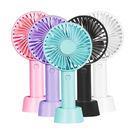 一支輕巧手持&桌立兩用風扇usb充電便攜式三檔風速(附電池) 顏色隨機