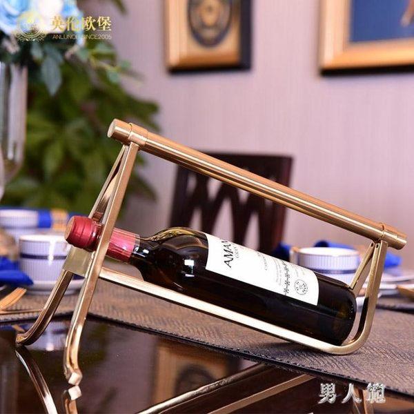 紅酒架 現代簡約擺件創意個性家用紅酒架歐式客廳酒柜裝飾品 FR10345『男人範』