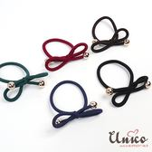 UNICO 韓版蝴蝶結高彈力無痕馬尾髮圈/髮繩-5入