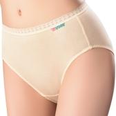 思薇爾-柔感棉系列素面中腰三角褲(柔粉黃)