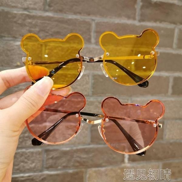 兒童墨鏡兒童眼鏡防紫外線男女童時尚小熊耳朵墨鏡小孩可愛護目鏡太陽鏡潮 【快速出貨】