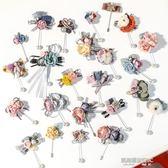 韓國可愛胸針女胸花高檔復古珍珠花朵毛衣別針開衫大衣外套配飾新  凱斯盾數位3c