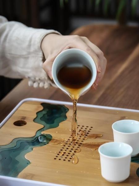 日式干泡茶盤家用功夫茶具茶臺簡約客廳儲水竹制托盤大號茶海套裝