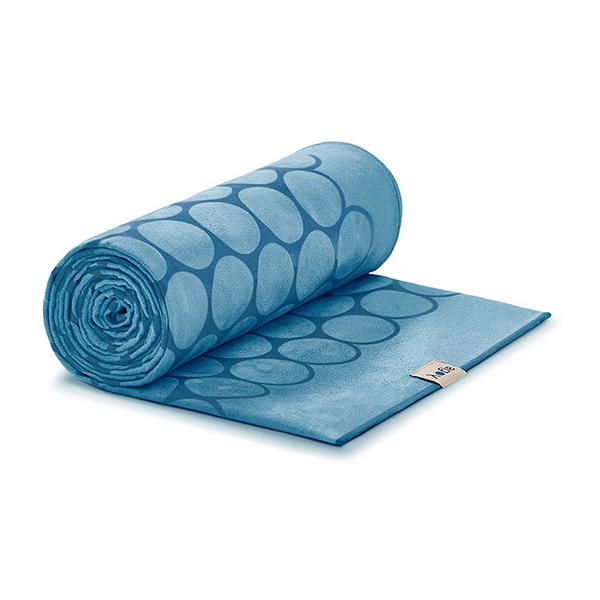 Agoy 瑜珈鋪巾 壁虎鋪巾3.0 (圈圈款) - 海洋藍 (送防水收納袋)
