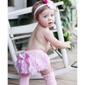 RuffleButts PP包屁短褲 粉色蕾絲 | 女寶寶褲子(嬰幼兒/兒童/小孩)