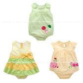 嬰兒短袖包屁衣 春夏寶寶連身衣 女童兔裝 CAB4303 好娃娃