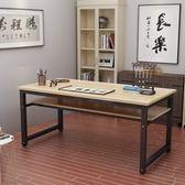 書法桌簡易電腦桌雙層辦公桌課桌簡約書桌書畫桌畫台寫字台 智聯igo