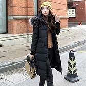 羽絨外套-連帽保暖厚實毛領中長款女夾克2色73pa16[巴黎精品]