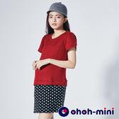 【ohoh-mini孕婦裝】俏麗復古素色點點孕婦洋裝