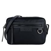 【南紡購物中心】LONGCHAMP LE PLIAGE NÉO 系列新款厚尼龍斜背相機包(黑)