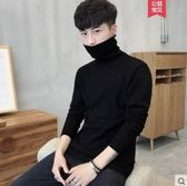 毛衣男士修身打底衫高領毛衣純色針織衫長袖韓版冬季加厚線衫男裝時光之旅