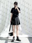 兩件套 大碼女裝夏裝微胖妹妹風上衣顯瘦半身裙a字短裙裝遮肉-免運直出