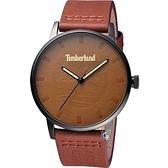 Timberland 天柏嵐 經典皮革紋面盤時尚錶(TBL.16076JSB/20)44mm