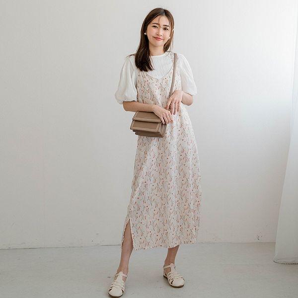 MIUSTAR 側開衩細肩雪紡洋裝(共9色)【NJ1244】預購