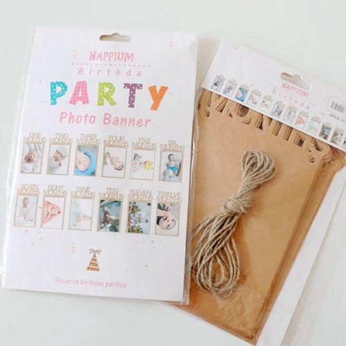 【韓風童品】歐美亞馬遜照片橫幅  寶寶生日裝飾 創意派對裝飾相框  生日相框  派對掛飾