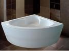 【麗室衛浴】國產壓克力造型浴缸 角落浴缸 扇形浴缸 H-285-2 120*120*外H56CM含活動前牆1面