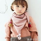 兒童圍巾兒童春秋冬季薄款男童可愛女圍脖公主寶寶嬰兒小孩三角巾 蘿莉小腳ㄚ