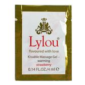 潤滑液 按摩油 情趣用品 德國Lylou-Kissable Massage Gel熱感草莓潤滑液隨身包4ml 缺貨隨機出貨
