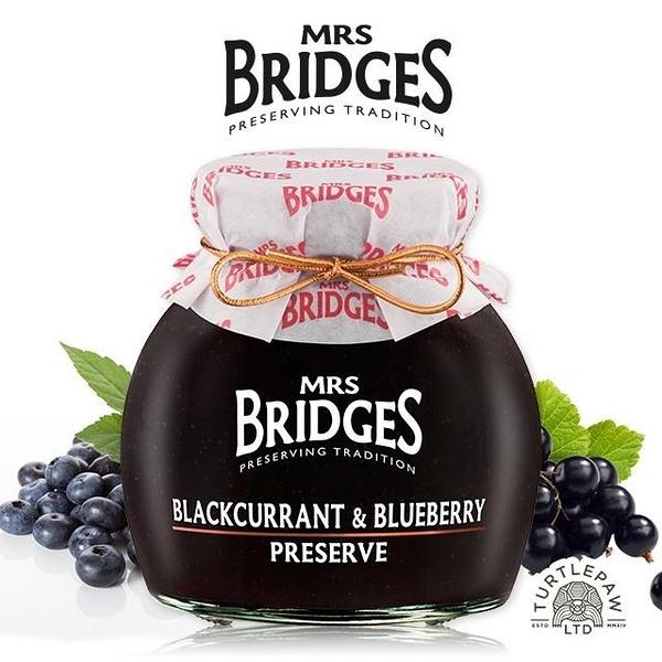 【南紡購物中心】【MRS. BRIDGES】英橋夫人黑加侖藍莓果醬(大)340g
