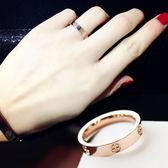 戒指大氣歐美戒指女指環簡約十字戒