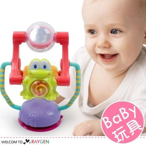 青蛙旋轉摩天輪搖鈴帶吸盤 寶寶玩具