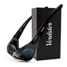 Verdster【美國代購】男女摩托車 太陽眼鏡 紫外線 舒適軟墊框架-黑色