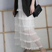可仙可仙了!紗紗蛋糕裙長裙半身裙 - 風尚3C