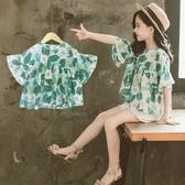 女童上衣 女童夏裝上衣中大童休閒寬鬆版t恤2020新款女孩洋氣網紅 交換禮物