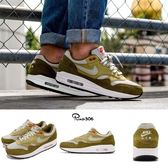 Nike 復古慢跑鞋 Air Max 1 Premium Retro Green Curry 綠 黃 麂皮 男鞋 運動鞋【PUMP306】 908366-300