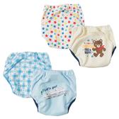 學習褲 Japan Imports 3層式學習褲2件組 包屁褲 短褲 褲子 - 藍色新幹線/星星小熊 270
