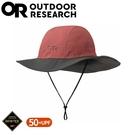 【Outdoor Research 美國 GORE-TEX 防水透氣大盤帽《灰紅》】280135/防水圓盤帽/登山健行