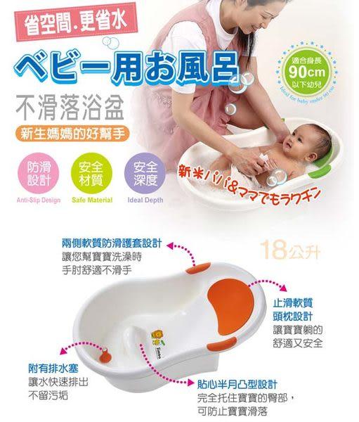 【奇買親子購物網】小獅王辛巴simba不滑落浴盆-(綠/橘)