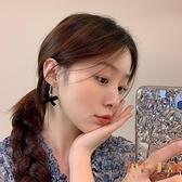 春季蝴蝶結耳環氣質網美耳釘女高級感耳飾耳夾【倪醬小鋪】