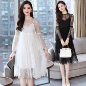 洋裝 韓版 長袖蕾絲連身裙 婚禮派對小禮服 花漾小姐【預購】