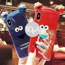 IDEA  iPhone XS  芝麻街立體公仔手機殼  保護殼 軟殼 全包 防摔 Elmo 藍光