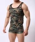 ▽男情趣服▽男士迷彩背心 緊身塑形軍姿 士兵軍訓練運動服